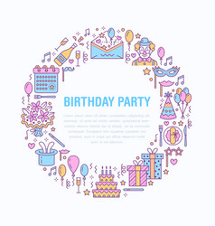 event agency birthday party banner with vector image