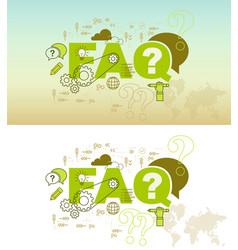 faq website banner design concept vector image