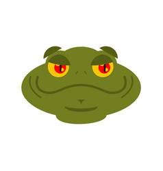 frog merry emoji toad avatar good amphibious vector image