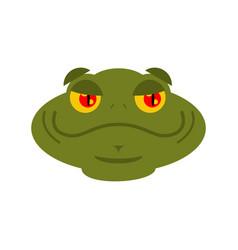 Frog merry emoji toad avatar good amphibious vector