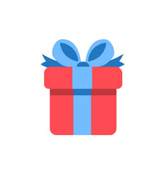 gift box icon - holiday present graphic symbol vector image