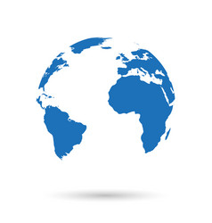 globe icon with shadow vector image