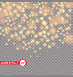 gold glitter particles background effect vector image