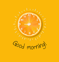 Good morning banner orange vector