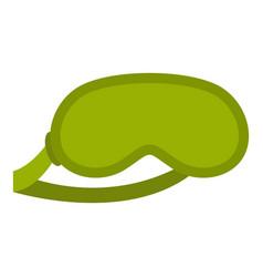 Green sleeping mask icon isolated vector