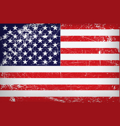 grunge flag of the united states of america vector image