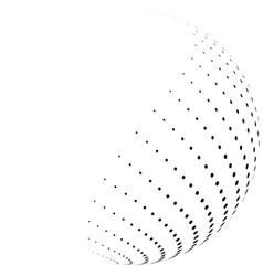 Halftone hemisphere vector