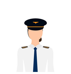 Isolated female pilot vector