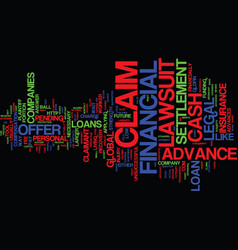 Lawsuit loans text background word cloud concept vector