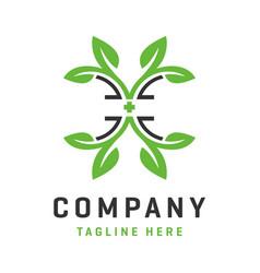 letter e health logo template vector image