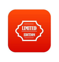 limited edition icon digital red vector image