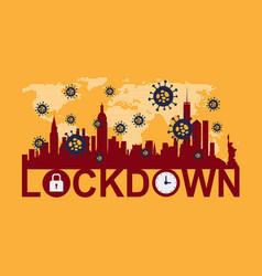 Lockdown - turn on city vector