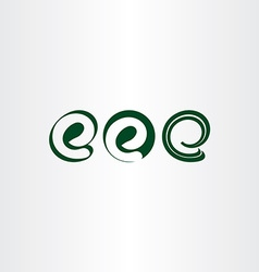 logo set letter e icons vector image