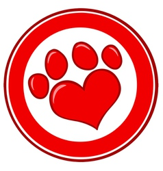 Love Paw Print Banner vector image