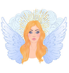 magic night fairy hand drawn portrait a vector image