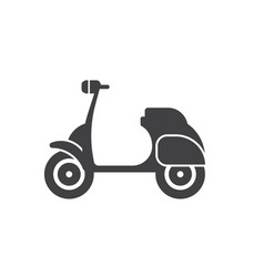 motor scooter icon vector image