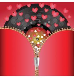 Musical hearts vector