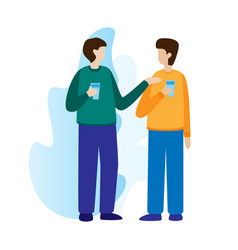 Office workers or colleagues standing drinking vector
