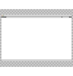 Opened template Grey website display bar isolated vector image