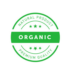 Organic natural product premium quality green vector