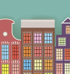 Original three paper houses on a light background vector