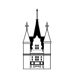 Palace icon Castle design graphic vector image vector image