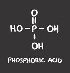 phosphoric acid formula vector image