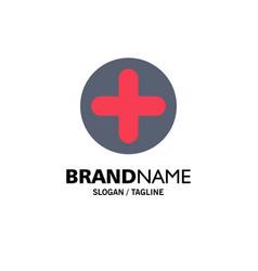 plus sign hospital medical business logo template vector image