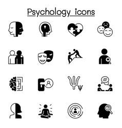 Psychology icons set graphic design vector
