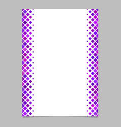 Purple diagonal square pattern page template vector