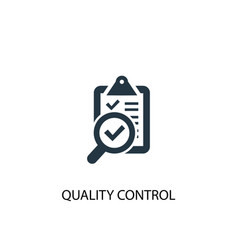 quality control icon simple element vector image