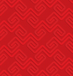 Red square fastening spirals on checkered vector