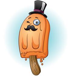 rich gentleman popsicle cartoon character vector image