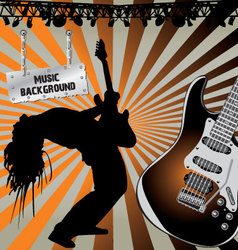 rock musician on stage vector image vector image