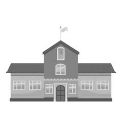 School icon gray monochrome style vector