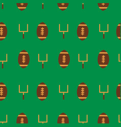 seamless pattern american football sports vector image