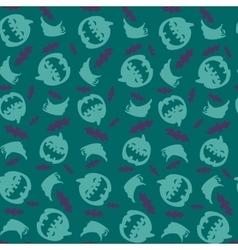 Seamless pattern Pumpkins bats and ghosts vector