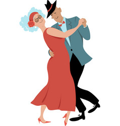 Seniors dancing waltz vector