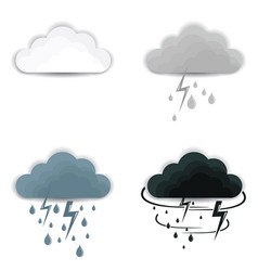 Set clouds on white background clouds vector