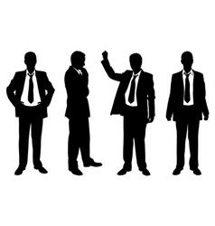 set of businessmen posing vector image