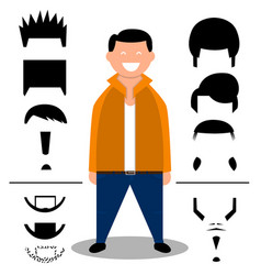 set of hairstylehairbeard set vector image