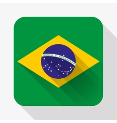 Simple flat icon Brazil flag vector image