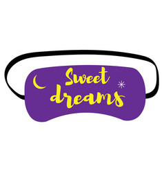 Sleep mask an icon in a flat style vector