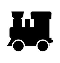 steam locomotive - train black color icon vector image