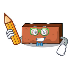 student brick character cartoon style vector image