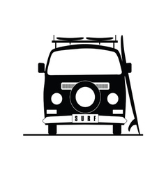 Surf vehicle icon in black color vector