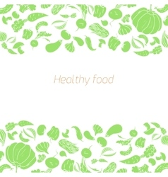 Text placeholder green vegetables background vector