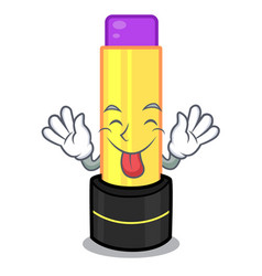tongue out lip balm in the cartoon shape vector image