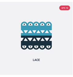 Two color lace icon from user interface concept vector