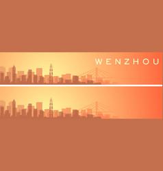 Wenzhou beautiful skyline scenery banner vector
